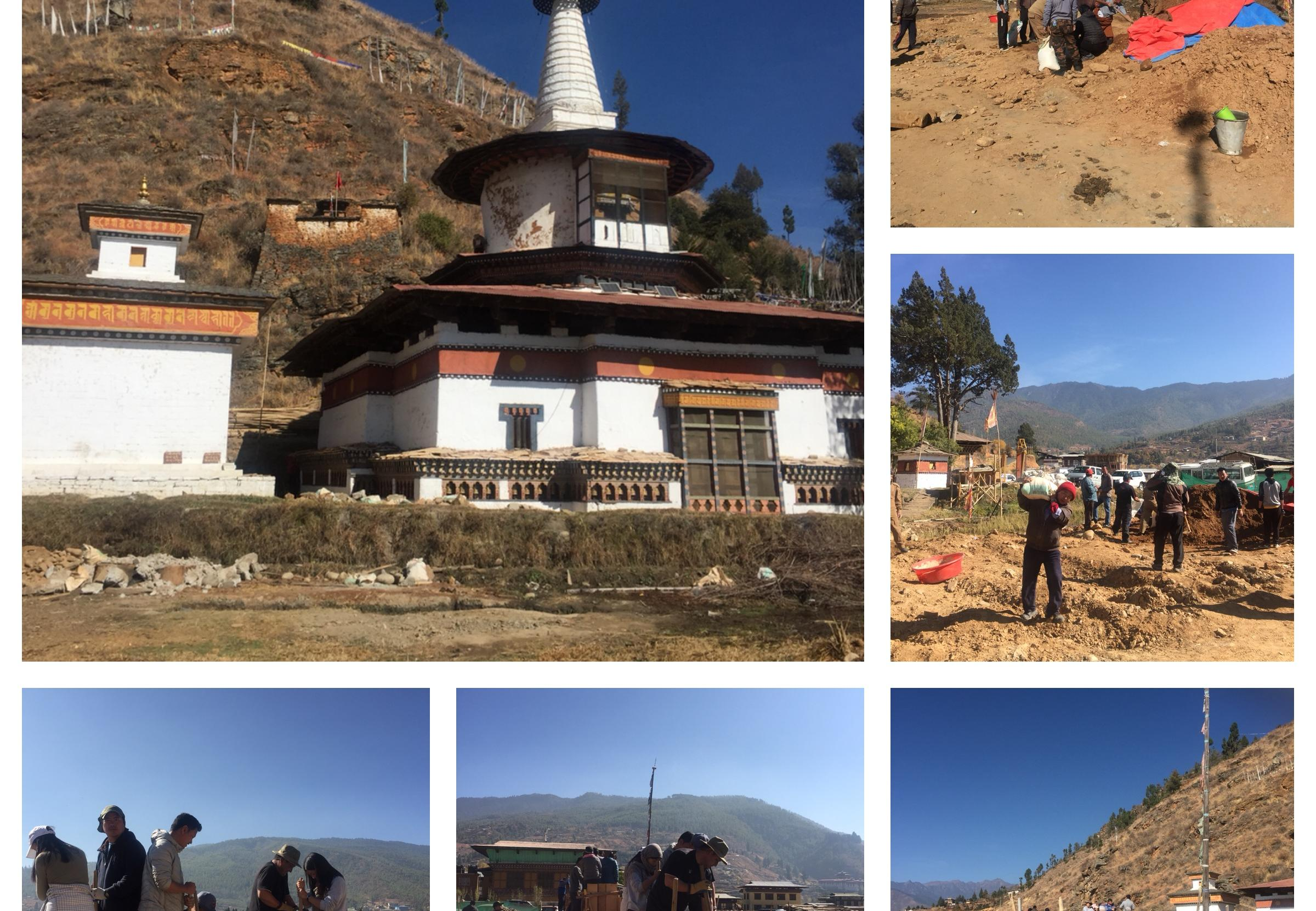 Dungtse Lhakhang undergoing Renovation Works