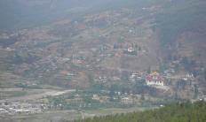 Birdseye view of Rinpung Dzong with Museum at the backdrop